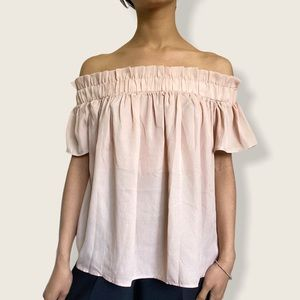 Pink Urban Outfitters off the shoulder top